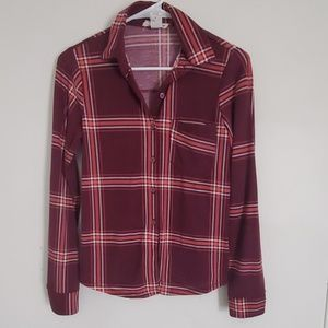 Burgundy Plaid Flannel